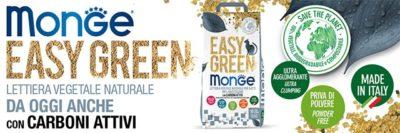 Scopri le lettiere vegetali Easy Green di Monge! Amiche dei gatti e dell'ambiente!
