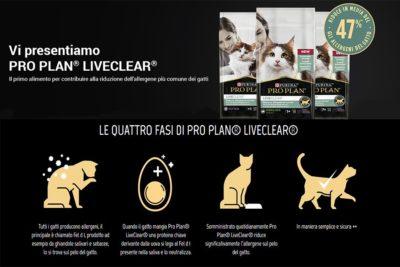 Problemi di allergia al pelo del gatto? Purina ProPlan LiveClear è la soluzione!
